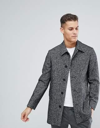 Reiss Dogtooth Wool Smart Coat