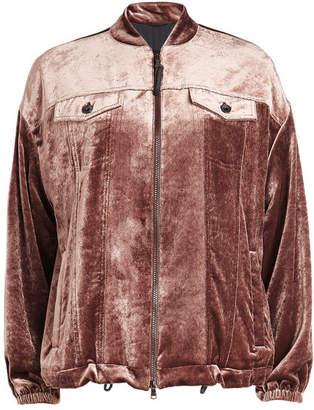 Brunello Cucinelli Velour Jacket with Silk
