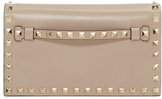 Valentino Taupe Small Rockstud Clutch $1,545 thestylecure.com