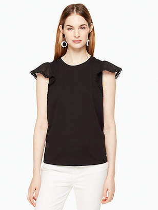 Flutter sleeve tee $75 thestylecure.com