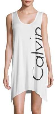 Calvin Klein Logo Cover-Up Tank Dress