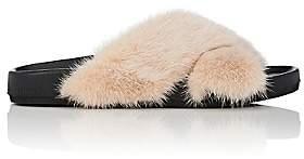 Barneys New York Women's Mink Fur Slide Sandals-Nudeflesh