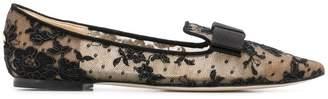 Jimmy Choo Gala lace ballerina shoes