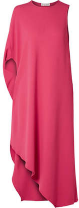 Narciso Rodriguez Asymmetric Cady Midi Dress - Bright pink
