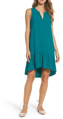 Women's Charles Henry High/low Ruffle Shift Dress $94 thestylecure.com