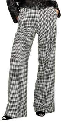 Topshop Houndstooth Wide Leg Pants