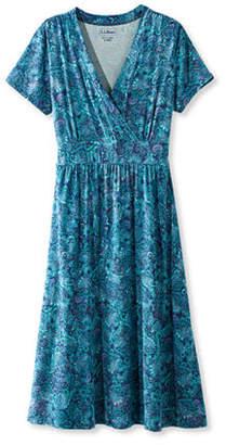 L.L. Bean (エルエルビーン) - サマー・ニット・ドレス、半袖 ペイズリー