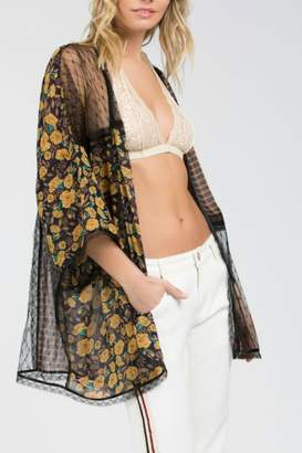 POL Mixed Media Kimono