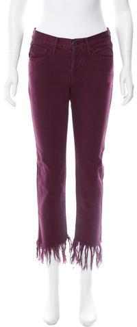 3x13x1 High-Rise Fringe Jeans