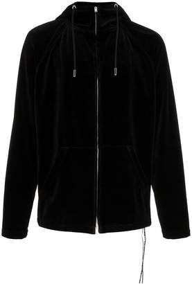Mastermind Japan logo print cotton blend velour hoodie