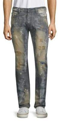 PRPS Apple Pie Distressed Cotton Jeans