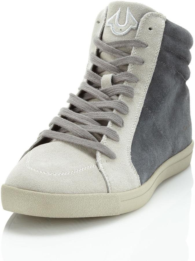 True Religion Scotty Suede Sneaker, Charcoal/Gray