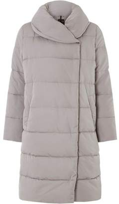 Dorothy Perkins Womens Grey Longline Duvet Coat