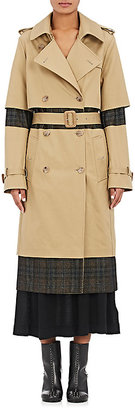 Maison Margiela Women's Twill & Flannel Deconstructed Trench Coat $2,760 thestylecure.com