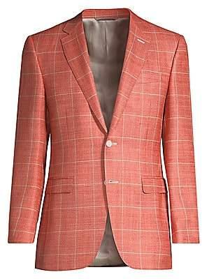 Canali Men's Windowpane Wool-Blend Jacket