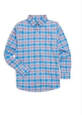 Vineyard Vines Toddler's, Little Boy's& Boy's Sandy Point Plaid Flannel Whale Shirt