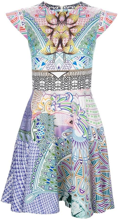 Mary Katrantzou 'Babelona' flared dress