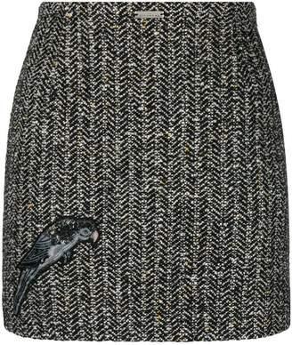 John Richmond bird embroidered skirt