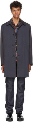 Paul Smith Multicolor Check Unlined Mac Coat