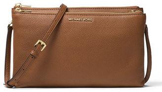 MICHAEL Michael Kors Adele Double-Zip Crossbody Bag $198 thestylecure.com