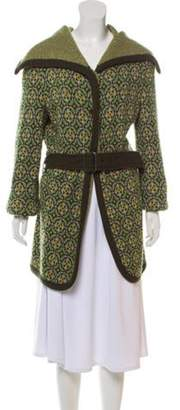 Etro Wool Long Sleeve Cardigan Green Wool Long Sleeve Cardigan
