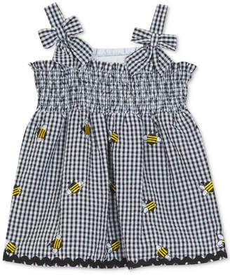 Rare Editions Baby Girls Gingham Bumblebee Dress