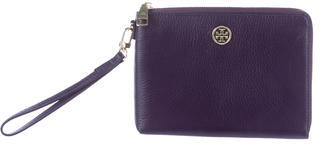 Tory Burch Tory Burch Pebbled Leather Wristlet