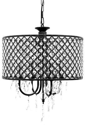 Willa Arlo Interiors Gisselle 4-Light LED Crystal Chandelier