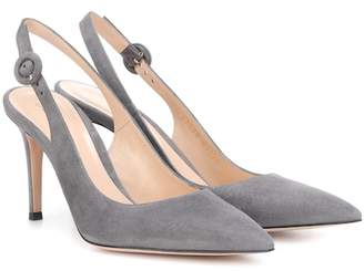 ee404141667c Gianvito Rossi Anna 85 suede slingback pumps
