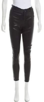 Paige Denim Leather Skinny Pants