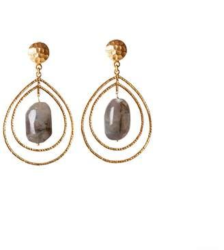 Christina Greene - Teardrop Earrings in Labradorite
