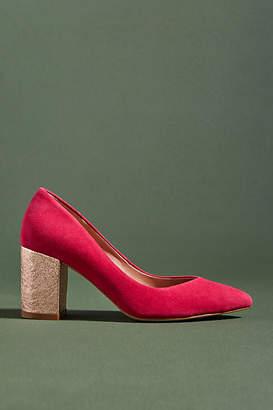 Anthropologie Metallic Block Heels