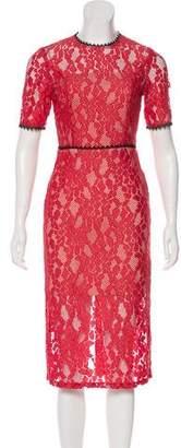Alexis Short Sleeve Midi Lace Dress