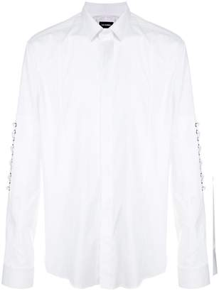 Les Hommes lace up detailed shirt