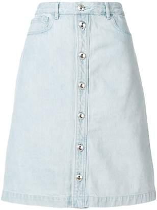 A.P.C. denim button skirt