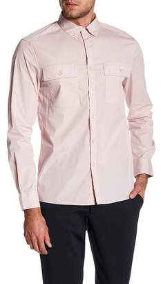 Kenneth Cole New York Long Sleeve Stretch Tailored Fit Shirt