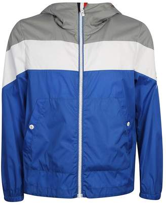 Moncler Gamme Bleu Chevron Color Block Windbreaker