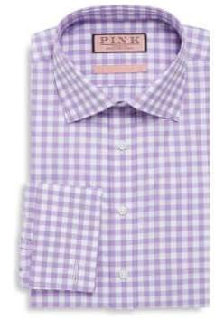 Thomas Pink Checkered Cotton Button-Down Shirt