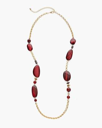 Chico's Chicos Red and Gold-Tone Single-Strand Necklace