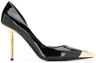 Versace two-tone pointed pumps