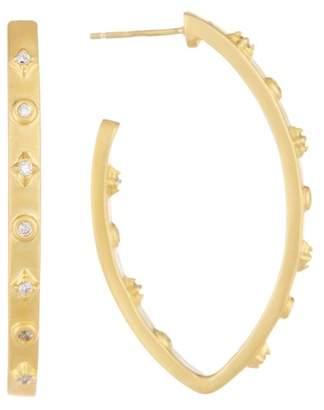 Freida Rothman Audrey Oval Cubic Zirconia Hoops