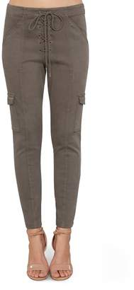 Willow & Clay Tie Front Ankle Skinny Pants