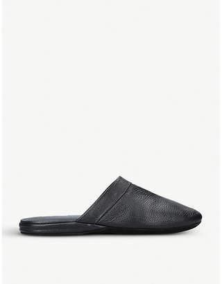 Stemar Heathrow leather travel slippers