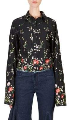 Marques Almeida Marques'Almeida Embroidered Button-Front Shirt