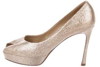 Saint Laurent Palais 80 Metallic Pumps