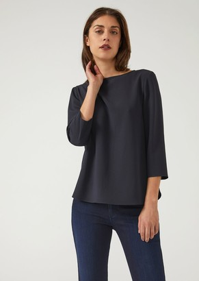 Emporio Armani Fluid Blouse With Boat Neck
