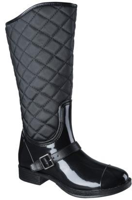 Merona Women's Zelma Rain Boot - Black
