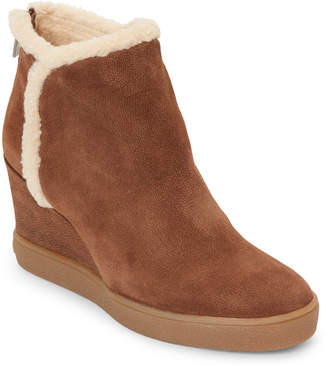 Aquatalia by Marvin K Chestnut Charlie Trimmed Wedge Booties