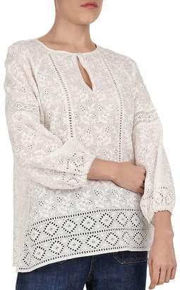 41b93267a7e0c Gerard Darel Eva Embroidered Cotton Eyelet Blouse