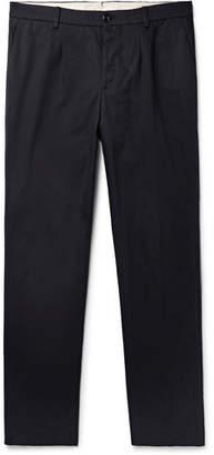 Privee SALLE Aubin Pleated Cotton-Twill Trousers